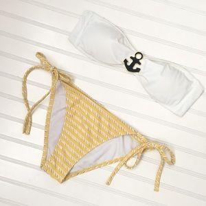 Other - Anchors Away Bandeau Bikini Set size M